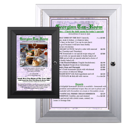 Enclosed Outdoor Menu Cases